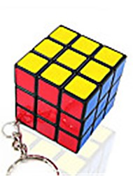 Rubik's Cube Smooth Speed Cube Smooth Sticker Magic Cube Key Chain Plastics Square Gift