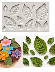 cheap -Rose Leaf Leaves Fondant Cake Silicone Molds Flower Cupcake Decorating Mould Baking Tools Random Color