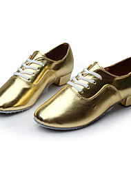 "Men's Latin Leatherette Sneakers Training Customized Heel Gold 1"" - 1 3/4"" Customizable"
