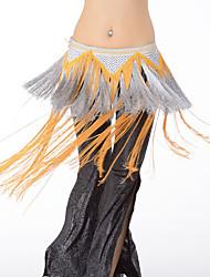 Dança do Ventre Lenços de Quadril para Dança do Ventre Mulheres Apresentação Raiom 1 Peça Xale de Dança do Ventre