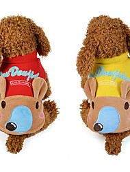 cheap -Dog Vest Dog Clothes Animal Yellow Red Cotton Down Costume For Pets Men's Women's Casual/Daily