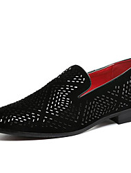 cheap -Men's Loafer & Slip-On Formal Shoe Fall Winter Glitter Casual Outdoor Office & Career Party & Evening Dress Black 1in-1 3/4in