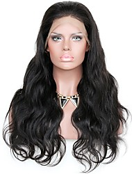 cheap -Remy Human Hair Lace Front Wig Wavy Body Wave 150% 180% Density 100% Hand Tied African American Wig Natural Hairline Medium Long Women's