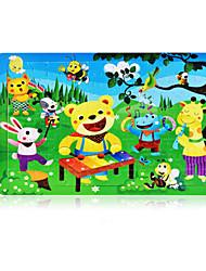 abordables -Puzzle Rabbit Autres Chat Soleil Dessin Animé Fleur Cartoon 3D En bois Anime Unisexe Cadeau