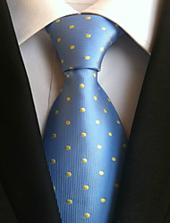 cheap -Men's Polyster Neck Tie,Neckwear Polka Dot All Seasons Light Blue