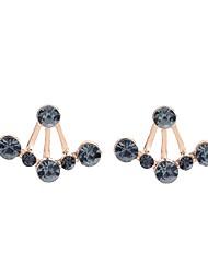 abordables -Mujer Diamante sintético Geométrico Pendientes cortos - Clásico, Moda Negro y Oro Para Fiesta / Regalo / Diario