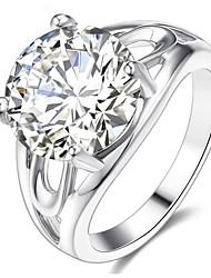 Dámské Široké prsteny Kubický zirkon Přizpůsobeno Luxus Klasické Základní Sexy láska Módní Cute Style Elegantní Zirkon Slitina Kulatý