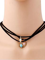 Mulheres Gargantilhas Y-colares Pele Turquesa Estilo Boêmio Estilo simples Jóias Para Diário Casual