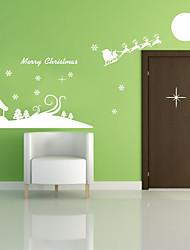 cheap -Romance Christmas Decorations Holiday Wall Stickers Plane Wall Stickers Decorative Wall Stickers, Plastic Home Decoration Wall Decal Wall
