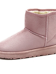 Women's Loafers & Slip-Ons Fluff Lining Snow Boots Fall Winter Customized Materials Casual Outdoor Low HeelBlushing Pink Brown Coffee