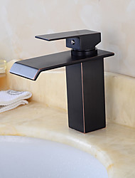 cheap -Art Deco/Retro Pull-out/Pull-down Standard Spout Tall/High Arc Vessel Ceramic Valve Oil-rubbed Bronze , Kitchen faucet
