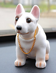 DIY Automotive Pendants Dolls Shaking His Head Dog Decoration Supplies Cute Creative Puppies Bull Terrier Car Pendant & Ornaments Resin
