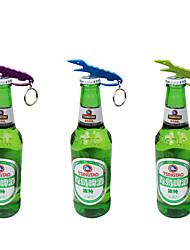 forma de crocodilo abridor de garrafas chave organizador titular corrente anel cor aleatória