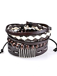 Women's Men's Leather Bracelet Jewelry Gothic Handmade Bohemian Punk Hip-Hop Luxury Classic Leather Circle Geometric Jewelry ForNew Baby