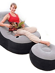 Inflatable Sofa Portable Foldable Compact Stretchy Travel Rest Flocked PVC Flocking for Camping Camping / Hiking / Caving All Seasons