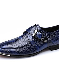 cheap -Men's Shoes Cowhide Nappa Leather Spring Fall Formal Shoes Comfort Loafers & Slip-Ons for Wedding Casual Office & Career Black Blue