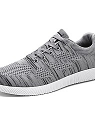 cheap -Men's Shoes Knit Spring Fall Comfort Sneakers Lace-up For Casual Outdoor Black Gray Blue