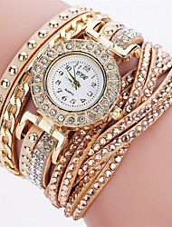 Women's Unique Creative Watch Casual Watch Simulated Diamond Watch Fashion Watch Bracelet Watch Chinese Quartz Imitation Diamond PU Band
