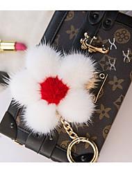 saco / telefone / chaveiro charme flor cartoon brinquedo mink pele celular encantos
