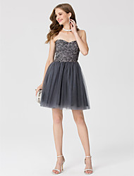 A-Line Princess Sweetheart Short / Mini Lace Tulle Cocktail Party Dress with Crystal Detailing by TS Couture®
