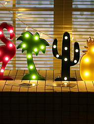 1Pcs  Led Night Light 3D Lamp Novelty  Luminaria Flamingo Cactus Nightlight Marquee Letter For Children Decor