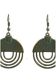 abordables -Femme Boucles d'oreille goutte Bijoux Vintage Costume Alliage Forme de Cercle Forme Géométrique Bijoux Pour Soirée