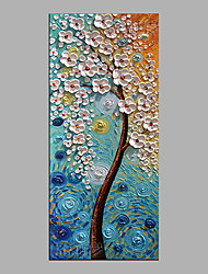 cheap -Oil Painting Hand Painted - Floral / Botanical Abstract Canvas