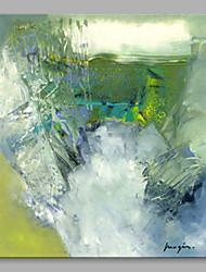 abordables -Peinture à l'huile Hang-peint Peint à la main - Abstrait Artistique Inclure cadre intérieur / Toile tendue