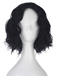 cheap -Women Synthetic Wigs Capless Short Loose Wave Kinky Straight Black Layered Haircut Lolita Wig Party Wig Halloween Wig Carnival Wig