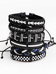 cheap -Men's Leather Bracelet Wrap Bracelet Personalized Multi-ways Wear Leather Line Irregular Jewelry Stage Club Costume Jewelry