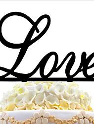 inserção de bolo de acrílico casamento casamento de aniversário cartão de bolo de amor