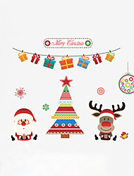 cheap -Christmas Holiday People Wall Stickers Plane Wall Stickers Decorative Wall Stickers,Plastic Material Home Decoration Wall Decal