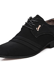 cheap -Men's Shoes Nubuck leather Spring Summer Fall Winter Formal Shoes Oxfords Rivet For Casual Outdoor Office & Career Black