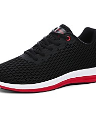 cheap -Men's Shoes PU Spring Fall Comfort Athletic Shoes Walking Shoes Lace-up For Athletic Black Gray Blue