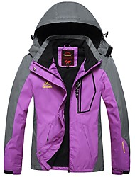 Women's Hiking Jacket Windproof Rain-Proof Waterproof Zipper Wearable Breathability Waterproof Full Length Visible Zipper Winter Jacket