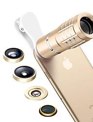 le lenti della macchina fotografica smartphone 0.36x lente grandangolare 8x lente teleobiettivo lente a macroistruzione 15x lente a occhio