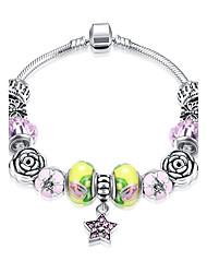 economico -Per donna Bracciali con ciondoli Bracciali tennis Cristallo Diamante sintetico Opal sintetico Geometrico Di tendenza Zirconi Argento