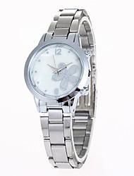 abordables -Mujer Reloj de Pulsera Reloj de Moda Chino Cuarzo Gran venta Aleación Banda Casual Plata Dorado
