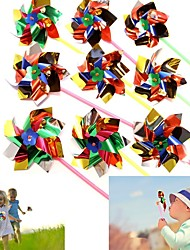 cheap -Dazzling Toys Paradise Party Pinwheels - Pack of 10 - Multi Flamboyant Colors Pinwheel Measures 6 Stick Measures 11