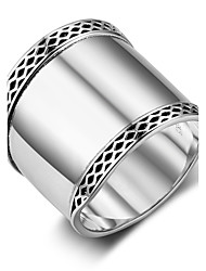 Women's Band Rings Vintage Sterling Silver Geometric Jewelry For Festival