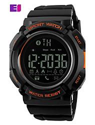 baratos -SKMEI Homens Relógio Esportivo Relógio de Moda Relógio de Pulso Digital PU Banda Digital Preta - Preto Laranja Azul