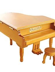 Caixa de música Brinquedos Piano Instrumentos Musicais Madeira Peças Unisexo Aniversário Dia dos namorados Dom