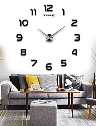 cheap -12S002 TIANPU TIME Round Modern/Contemporary Wall Clock,Family Acrylic / Stainless Steel / Styrofoam Can DIY 70-130cm