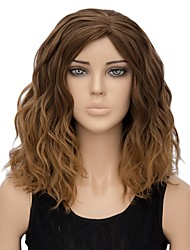 cheap -Women Synthetic Wig Capless Short Water Wave Light Brown Ombre Hair Halloween Wig Costume Wig