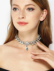 Women's Choker Necklaces Rhinestone Alloy Rhinestone Teardrop Rhinestone Euramerican Fashion Personalized JewelryParty Special Occasion