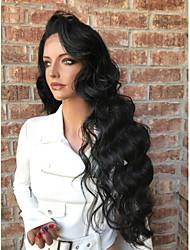 Women Human Hair Lace Wig Brazilian Human Hair Full Lace 130% Density Layered Haircut With Baby Hair Wavy Wig Black Medium Brown Dark
