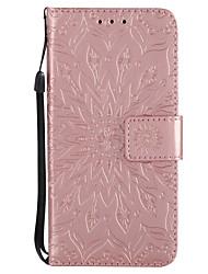 Недорогие -Кейс для Назначение Apple iPhone X iPhone 8 Бумажник для карт Кошелек со стендом Флип С узором Чехол Мандала Твердый Кожа PU для iPhone X