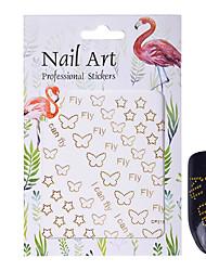 1 Nail Art Sticker  Glitter Pattern Accessories Surface Mounted Art Deco/Retro 3D Nail Stickers Cartoon 3-D Sticker DIY Supplies Makeup
