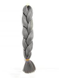 "abordables -Trenzas Jumbo 1 pc / paquete Trenzas de cabello Box Trenzas 24 "" Sintético Gris Cabello para trenzas Extensiones de cabello"
