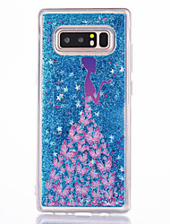 cheap -Case For Samsung Galaxy Note 8 Flowing Liquid Pattern Back Cover Sexy Lady Hard PC for Note 8 Note 5 Note 4 Note 3